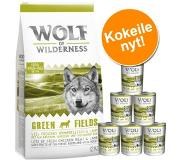 Wolf of Wilderness Green Fields, agneau pour chien - 12 kg