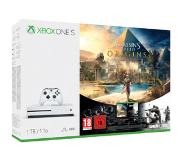 Microsoft Xbox One S 1TB Assassin's Creed Origins Bundle 1000Go Wifi Blanc