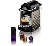Krups Nespresso Krups Pixie XN3005 Electric Titanium Pod coffee machine 0.8L Noir