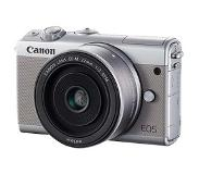 Canon EOS M100 Kit d'appareil-photo SLR 24.2MP CMOS 6000 x 4000pixels Gris
