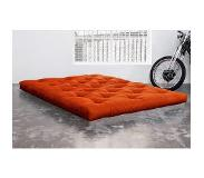 Karup Matelas FUTON TRADITIONNEL orange longueur couchage 200cm