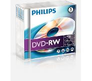 Philips Pack 5 DVD-RW 4.7 GB 4x