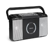 Auna Boomtown USB Poste radio FM et lecteur CD portable MP3 - noir