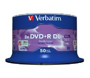 Verbatim DVD+R Double Layer 8x Matt Silver 50pk Spindle 8.5Go DVD+R DL 50pièce(s)