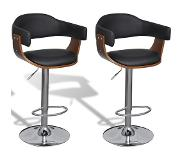 VidaXL Tabourets de bar 2 pcs Similicuir